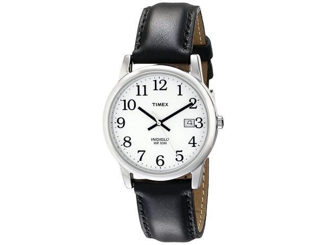 Timex Mens T2H281 Easy Reader 35mm Black Leather Strap Watch