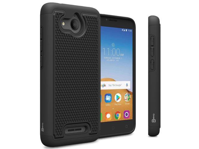 Black Hard Case For Alcatel Tetra / 5041C Hybrid Slim Shockproof Phone  Cover - Newegg com