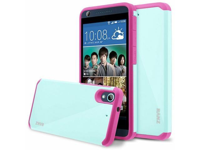 half off fe6d9 113f2 HTC Desire 626 Case, Hard Impact Dual Layer Shockproof Bumper Case - Mint /  Pink - Newegg.com
