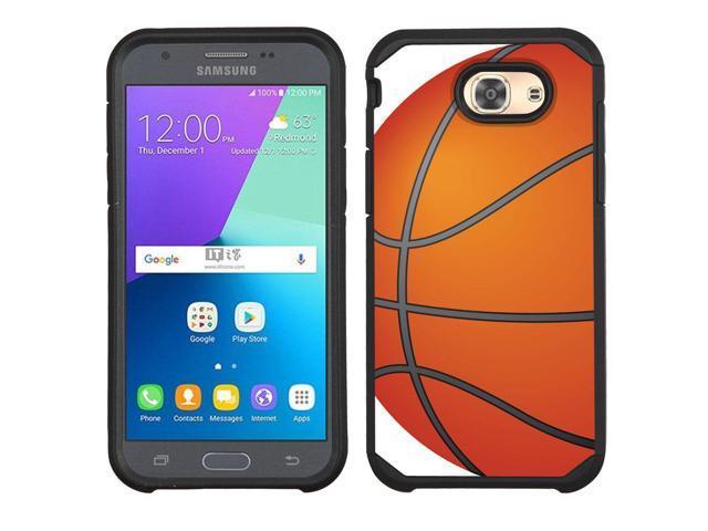 timeless design c9f56 18e08 2-Layer Case for Samsung Galaxy J3 Luna Pro 4G LTE / Eclipse - Basketball -  Newegg.com