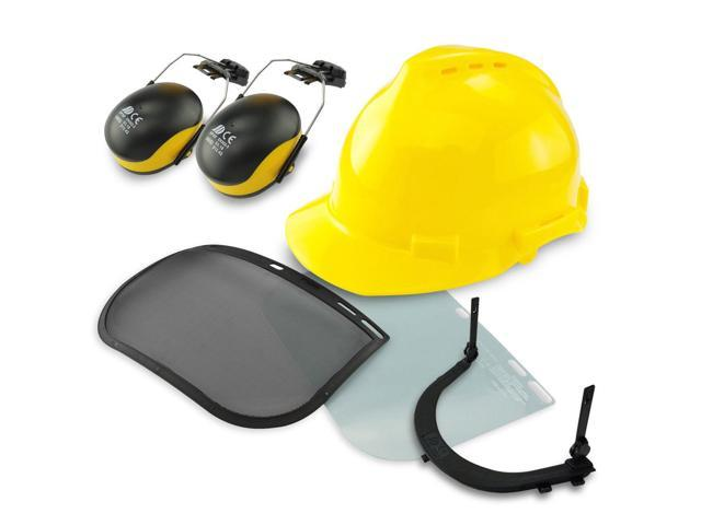 Professional Safety Helmet   4-in-1 Construction Hard Hat Ear Face  Protection - Newegg com