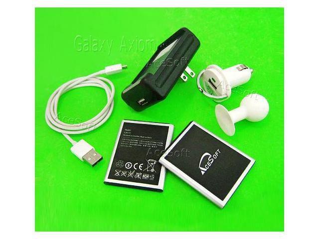 4380mAh AceSoft Battery Home Charger Car Data Holder 4 Samsung Galaxy Axiom  R830 - Newegg com