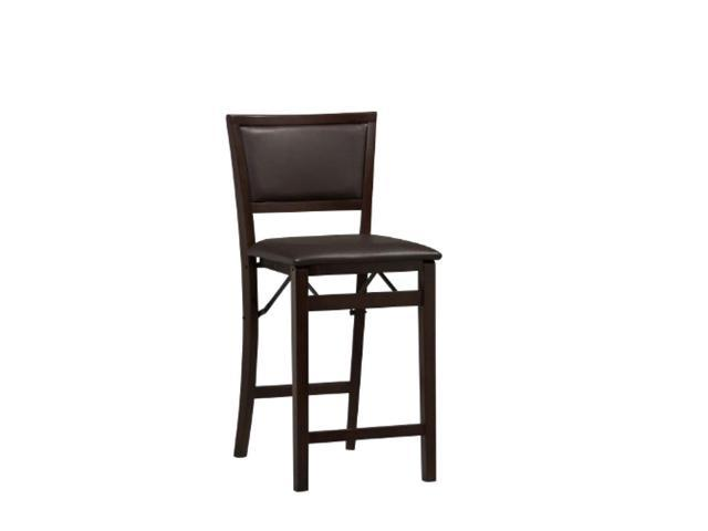 Swell Counter Height Bar Stool Chair Seat Backrest Cushioned Folding Wood 24 Inch New Machost Co Dining Chair Design Ideas Machostcouk