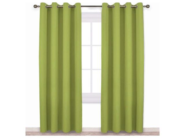 NICETOWN Bedroom Curtains Blackout Draperies - Noise Reducing Thermal  Insulated Solid Grommet Top Blackout Draperies/Drapes for Kid\'s Room (1  Pair, 52 ...