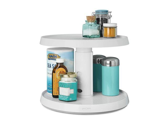 YouCopia 2-Tier Height Adjustable Crazy Susan Kitchen Cabinet Turntable and  Spice Organizer - Newegg.com