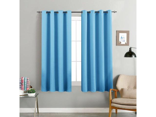Blackout Curtains For Kids Room 63 Inches Long Triple Weave Nursery Window Curtain Panels Boy S Darkening Thermal Insulated D Grommet