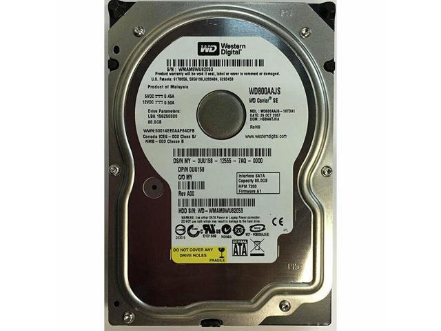 WD800JD-00LUA0 Western Digital 80GB SATA 7200RPM