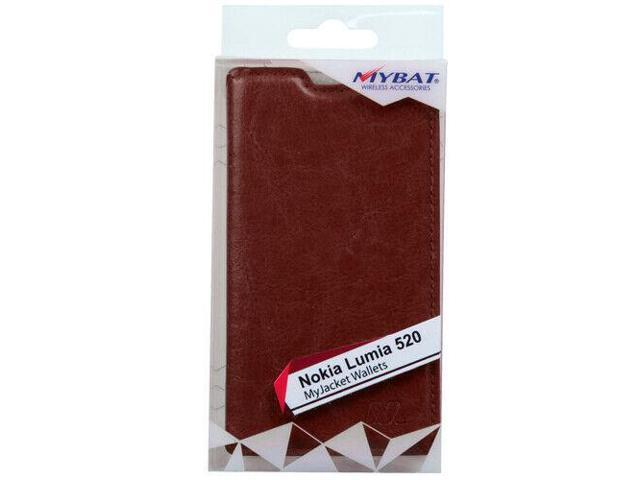 For Nokia 520 (Lumia 520) Brown MyJacket Wallet Case Cover - Newegg com