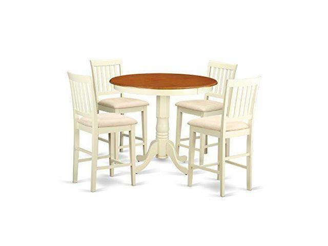 Tremendous East West Furniture Javn5 Whi C 5 Piece Dinette Table And 4 Bar Stools Set Newegg Com Gmtry Best Dining Table And Chair Ideas Images Gmtryco