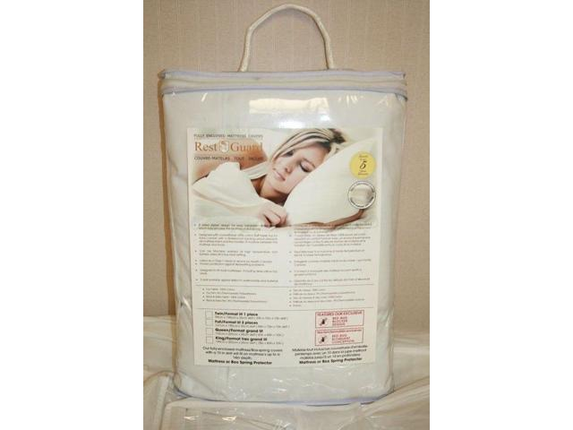 Bed Bug Mattress Cover.Austin Taperly H14415 Rest Guard Bed Bug Mattress Cover 15 In