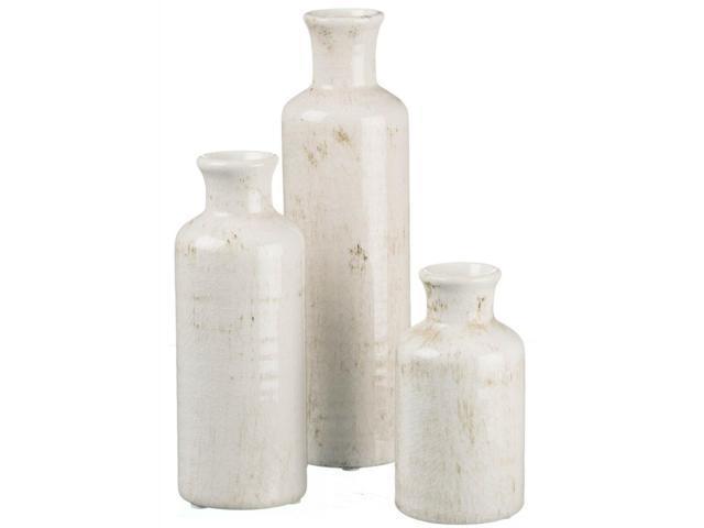 CM2038 New Red Various Sizes Set of 3 Sullivans Ceramic Vase Set