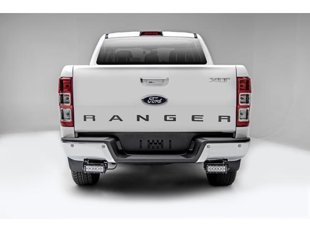 zroadz rear bumper led kit, black, mild steel, bolt-on, includes
