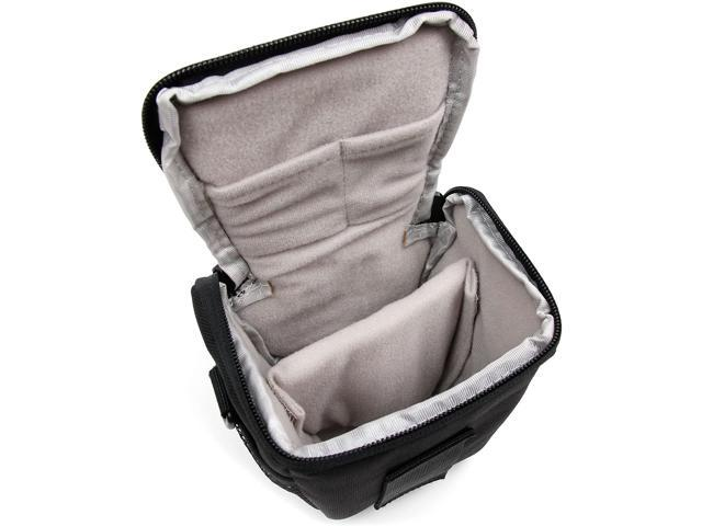 Compatible with Sony NEX6 DURAGADGET Water-Resistant Black /& Grey Cross-Body Carry Bag