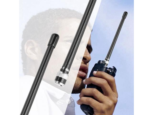 2pcs Full Band BNC Replacement Antenna Extendable Antenna for Walkie Talkie