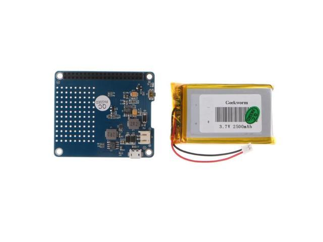 UPS HAT Board Module 2500mAh Lithium Battery For Raspberry Pi 3 Model B/Pi  2B/B+/A+ - Newegg com