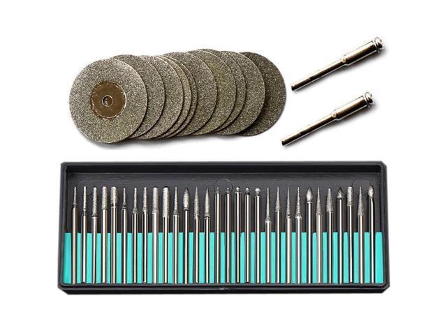 For Dremel Accessories Rotary Tools 30Pcs Diamond Burs 12Pcs Diamond Saw  Blades Mini Cutting Discs Drill Bits For Dremel Tool - Newegg com
