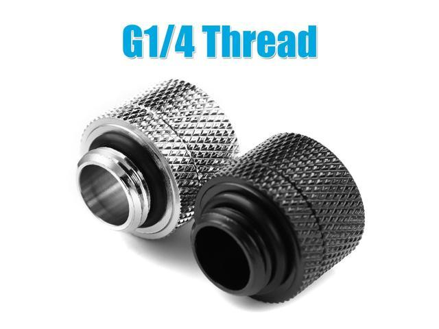G1/4 Water Cooling Connector Fittings for Soft Tube External Thread Connectors Water Cooler Heat Sink PC Computer Water Cooling