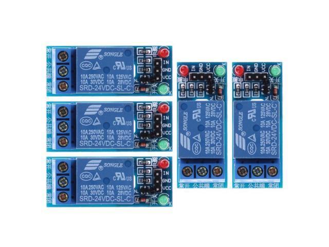5Pcs/lot 24V 1-Channel Relay Module Optocouple Board Shield for PIC AVR DSP  ARM Electronic Relay Module - Newegg com