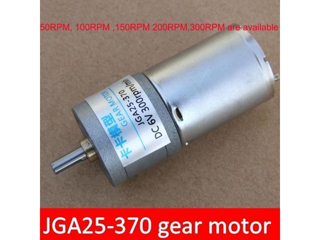 JGA25-370 DC gear motor with metal gear 6V 50RPM, 100RPM ,150RPM  200RPM,300RPM are available for Intelligent vehicle robot - Newegg com
