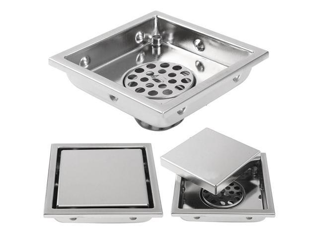 Mayitr Invisible Floor Drain Tile Stainless Steel Insert Square