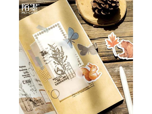 Squirrel  Box Journal Japanese Paper Fall Squirrel Stationary Small Travel Diary Stickers Scrapbooking Flakes