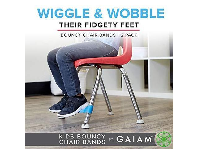 Peachy Gaiam Kids Chair Bands Flexible Seating Fidget Bounce Bands 2 Pack For Elementary Amp Middle School Classroom Desk Chairs Adhd Amp Sensory Toy Inzonedesignstudio Interior Chair Design Inzonedesignstudiocom