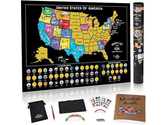 Scratch Off Map of The United States Scratch Off USA Map Kit ...
