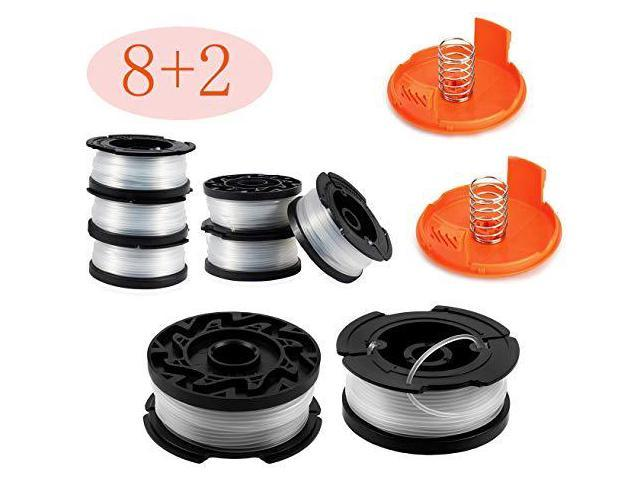 30ft 0065 Line String Trimmer Replacement Spool Autofeed Trimmer Line  Spool10Pack Compatible with Black+Decker AF1003ZP Weed Eater String  Trimmers 8