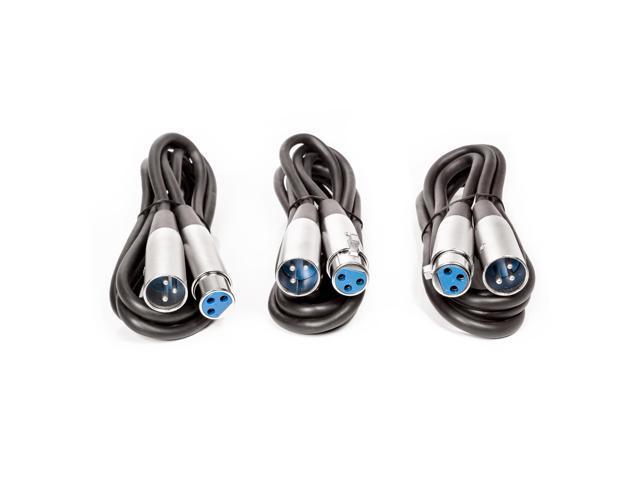 Mixer Black PVC Jacket 3-feet XLR Male-XLR Female Speaker Microphone Cable
