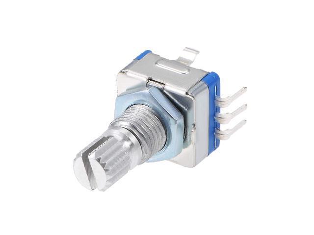 uxcell 360 Degree Rotary Encoder Code Switch Digital Potentiometer EC11 7 Pins 15mm Shaft 5pcs