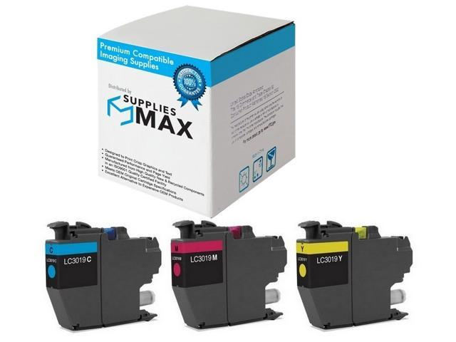 LC-3219XLRBWBP C//M//Y SuppliesMAX Compatible Replacement for Brother MFC-J5330//J5335//J5730//J76530//J6830DW Super High Yield Inkjet Combo Pack