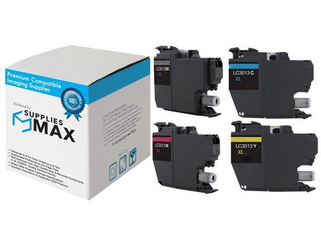 C//M//Y SuppliesMAX Compatible Replacement for Brother DCP-J572//J772//J774//MFC-J491//J497//J690//J890//J895DW High Yield Inkjet Combo Pack LC-3013XLCMY