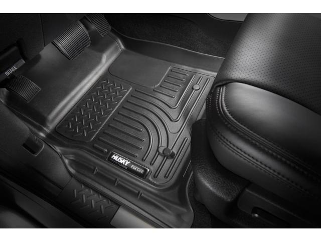 Husky Liners 98991 Black Front//Second Row WeatherBeater Floor Liners for Prius
