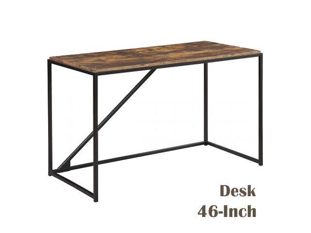 Home Office 46 Inch Computer Desk Small Desk Home Office Study Desk Metal Frame Modern Simple Laptop Table Easy Assembly Industrial Style Brown Newegg Com