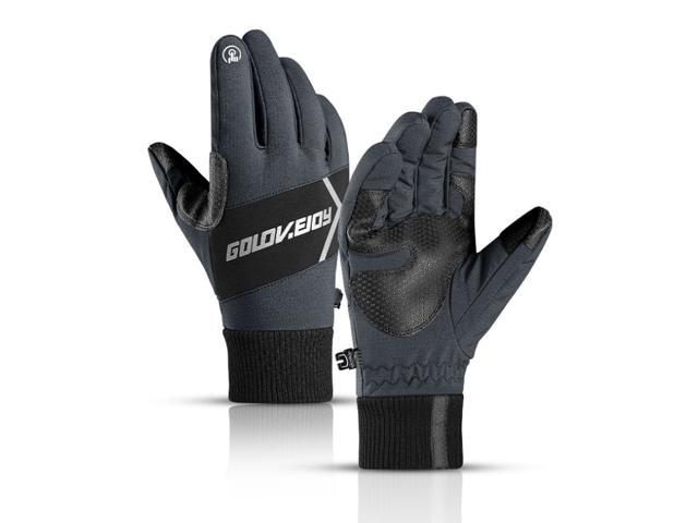 Winter Warm Thermal Touch Screen Gloves Ski Snow Snowboard Cycling Waterproof Touchscreen Gray/L