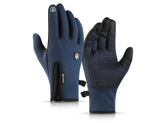 Winter Skiing Gloves Touch Screen Sport Outdoor Snowboarding Windproof Thermal Black/L