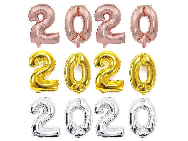 16 Inch 2020 Balloon Happy New Year Christmas Party ...