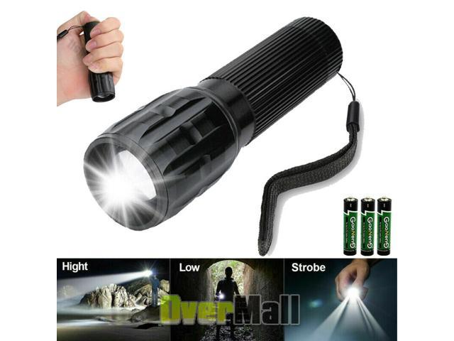 Super Bright Tactical Military LED Flashlight flash light 2000 Lumen 10000 LUX!
