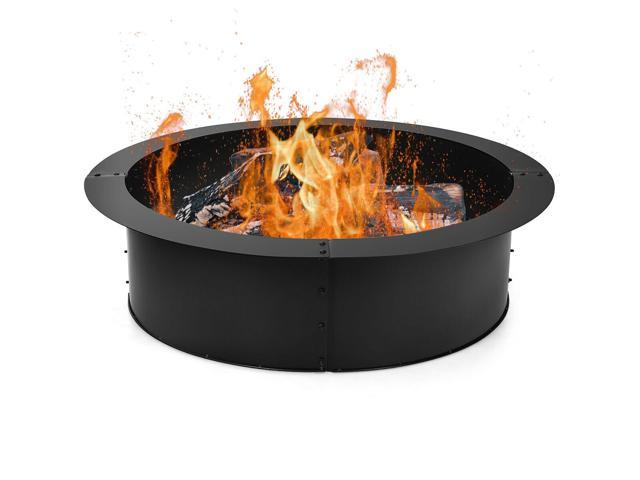 36 Inch Round Fire Pit Ring Liner DIY Wood Burning Insert ...