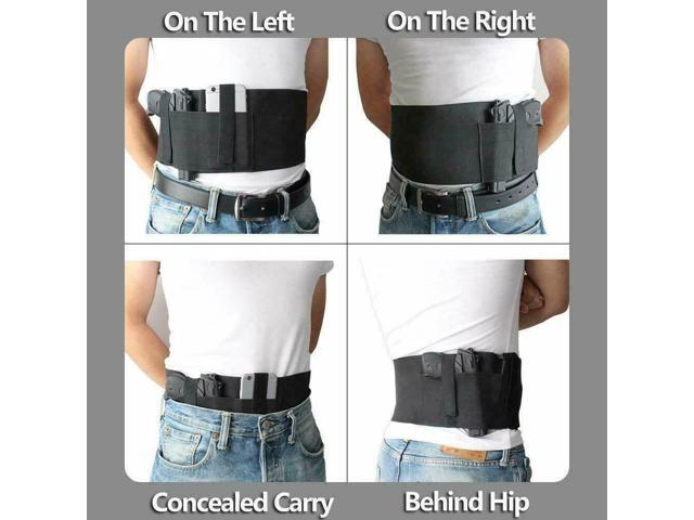 Tactical Belly Band Holster Concealed Carry Hidden Gun Right Left Hand Draw Belt