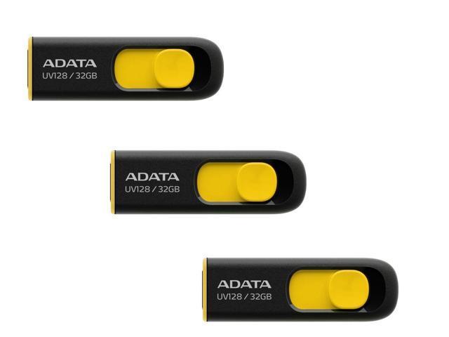 3-Pack ADATA DashDrive UV128 32GB USB 3.0 Flash Drive