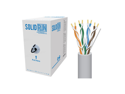 Sewell SolidRun Cat6 Cable UTP CM Light Gray PVC jacket 1000 ft