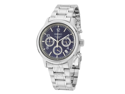Seiko Blue Dial Stainless Steel Chronograph Mens Watch SSB005