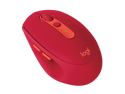 Logitech Wireless Mouse M590 Multi-Device Silent with FLOW cross-computer control and file sharing for PC and Mac - Red