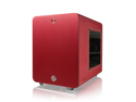 RAIJINTEK METIS Aluminum M-ITX Case, USB 3.0* 2, Compatible with Standard ATX Power Supply, 170mm VGA Card Length, 160mm CPU Cooler Height, 120mm Performing Fan Pre-Installed, 7 Colors Option -  Red