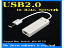 (No driver software is required)USB to RJ45 Network Lan High Speed Ethernet Adapter 10/100Mbps for Apple Macbook Air iMac Linux Android