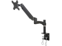 Single LCD Monitor Desktop Mount Stand / Black Deluxe with Gas Spring for 1 Screen up to 27 inches