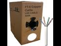 GlobalTone Ethernet Cable Network Cat5e UTP Solid RJ-45 FT4 CMP Plenum Copper White 500Ft
