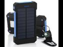 30000mAh Dual USB Portable Solar Battery Charger Solar Power Bank For Phone USA Blue