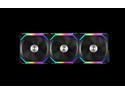 LIAN LI UNI FAN SL120 RGB BLACK 3X 12CM FAN PACK WITH CONTROLLER  ---UF-SL120-3B